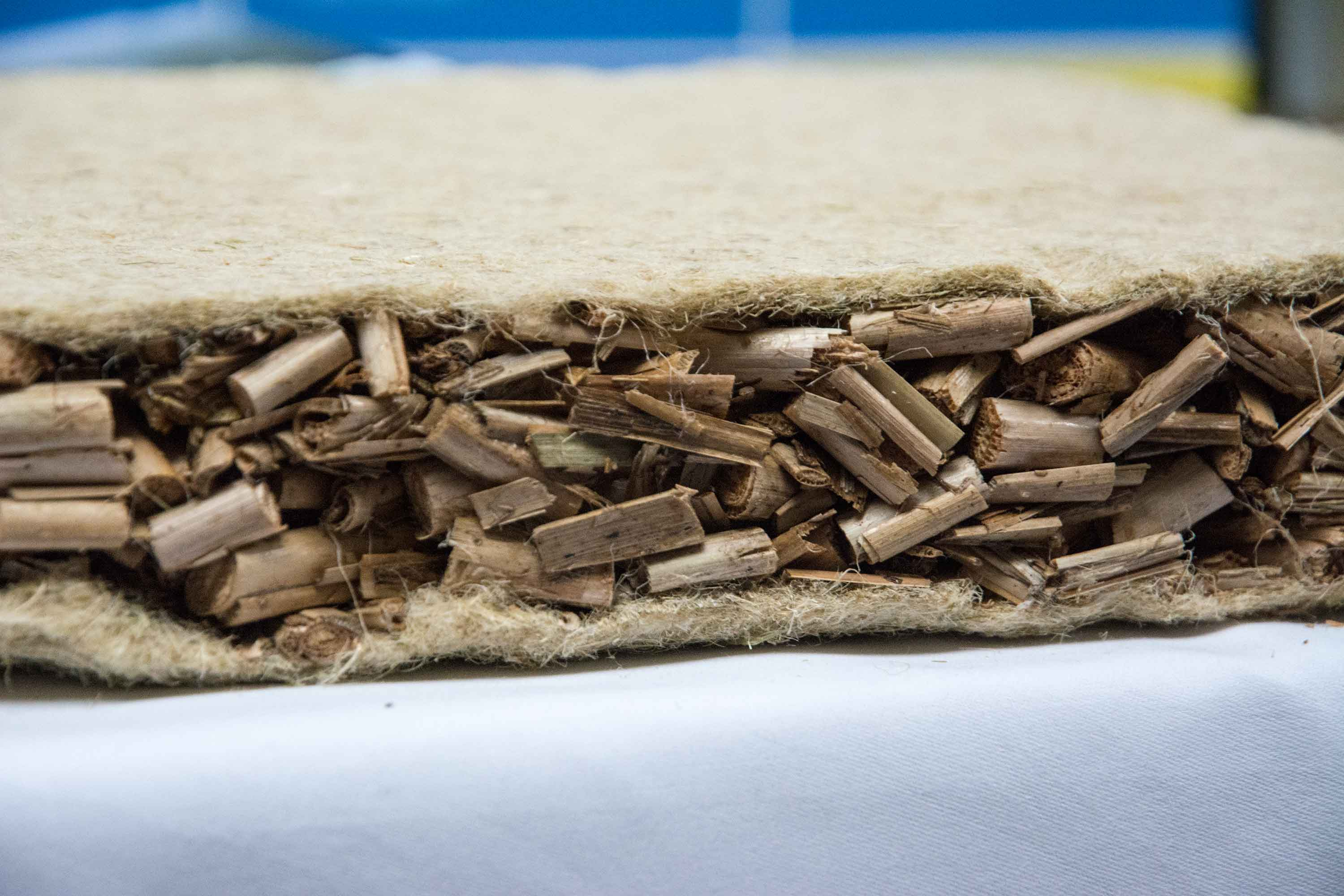 Insulation with natural fibers