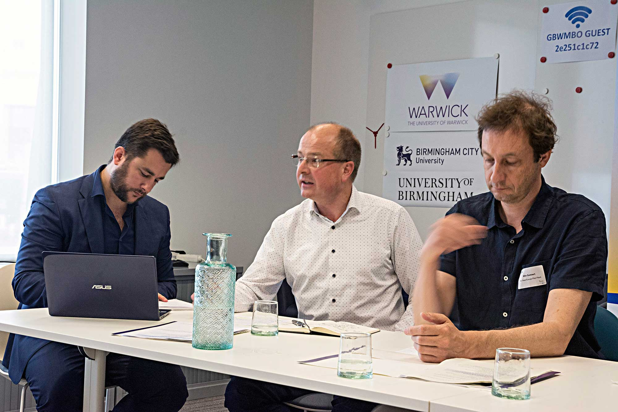 Pierre Padilla, Eric Goossens and Wim Soetaert