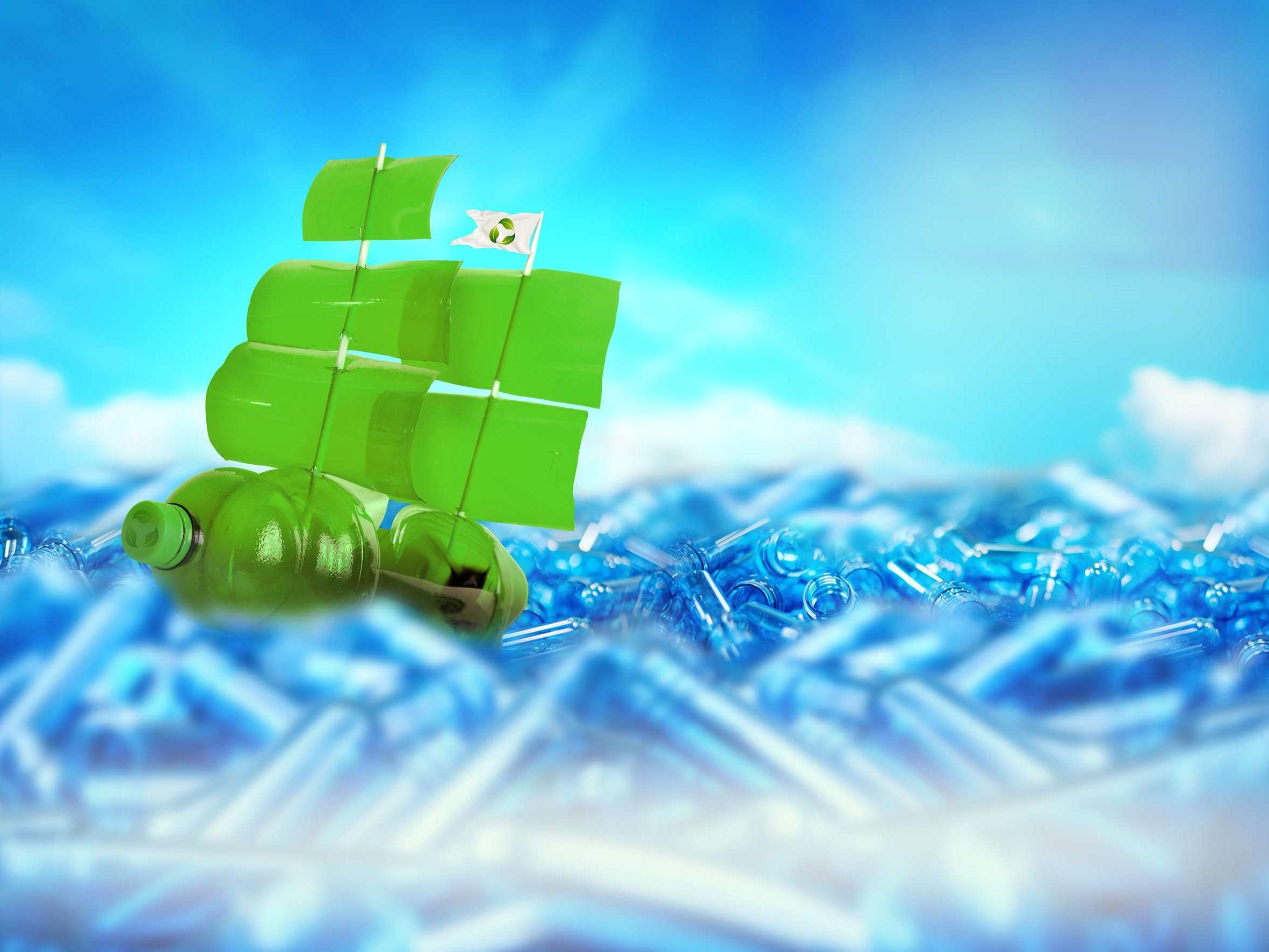 Bioplastic ship