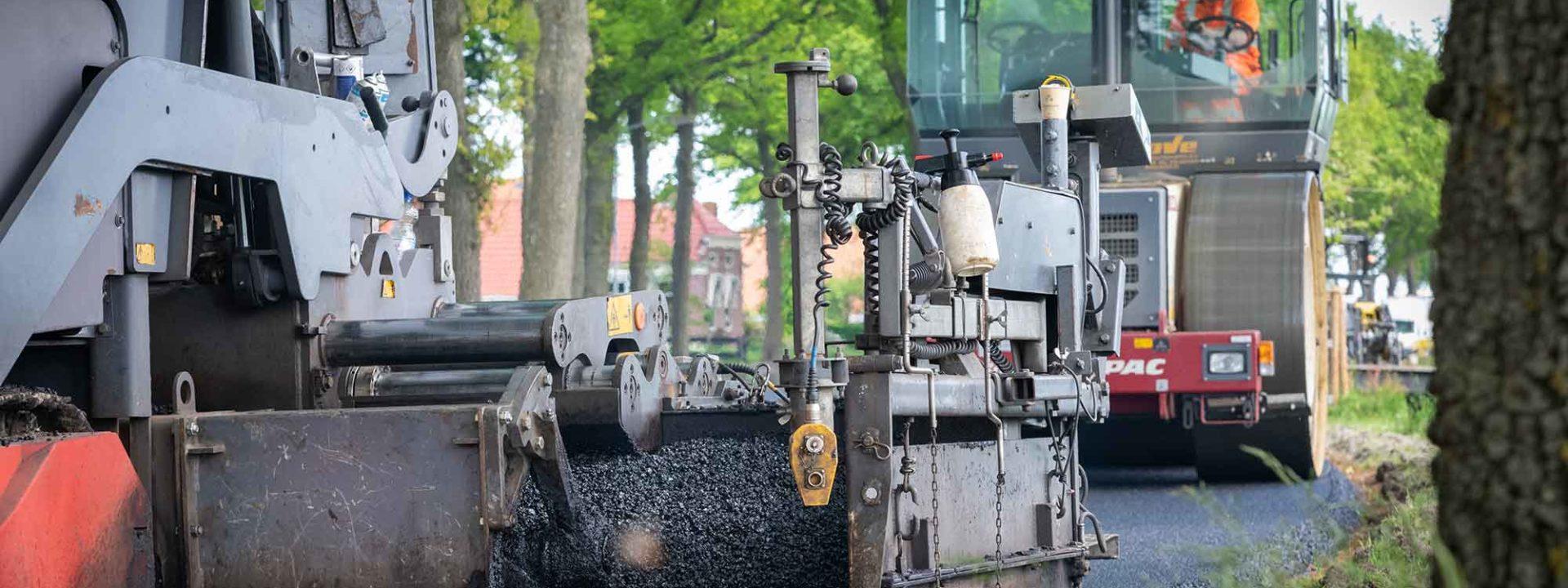 Asphalt with lignin test road construction